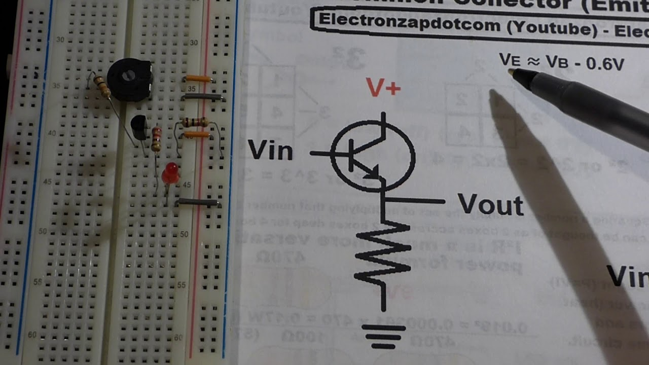 Npn 2n3904 Bjt Common Collector Aka Emitter Follower Electronics By Why Is My 2n2222 Transistor Not Biasing Forum Circuits Electronzap