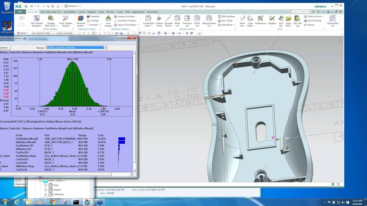 Siemens NX Integrated Tolerance Analysis | 3DCS Variation