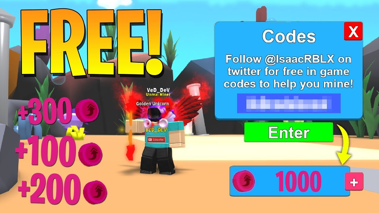 This Code Will Make You Rich In Roblox Mining Simulator How To Get Free Tokens In Mining Simulator Roblox Youtube