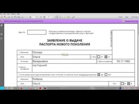 Загранпаспорт как правильно заполнять анкету нового образца (июнь2015)
