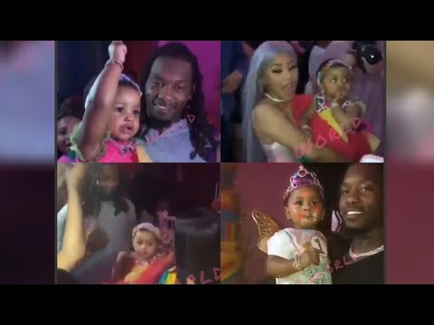 Cardi B & Offset's Daughter Kulture 1st Birthday Party 😍🥰