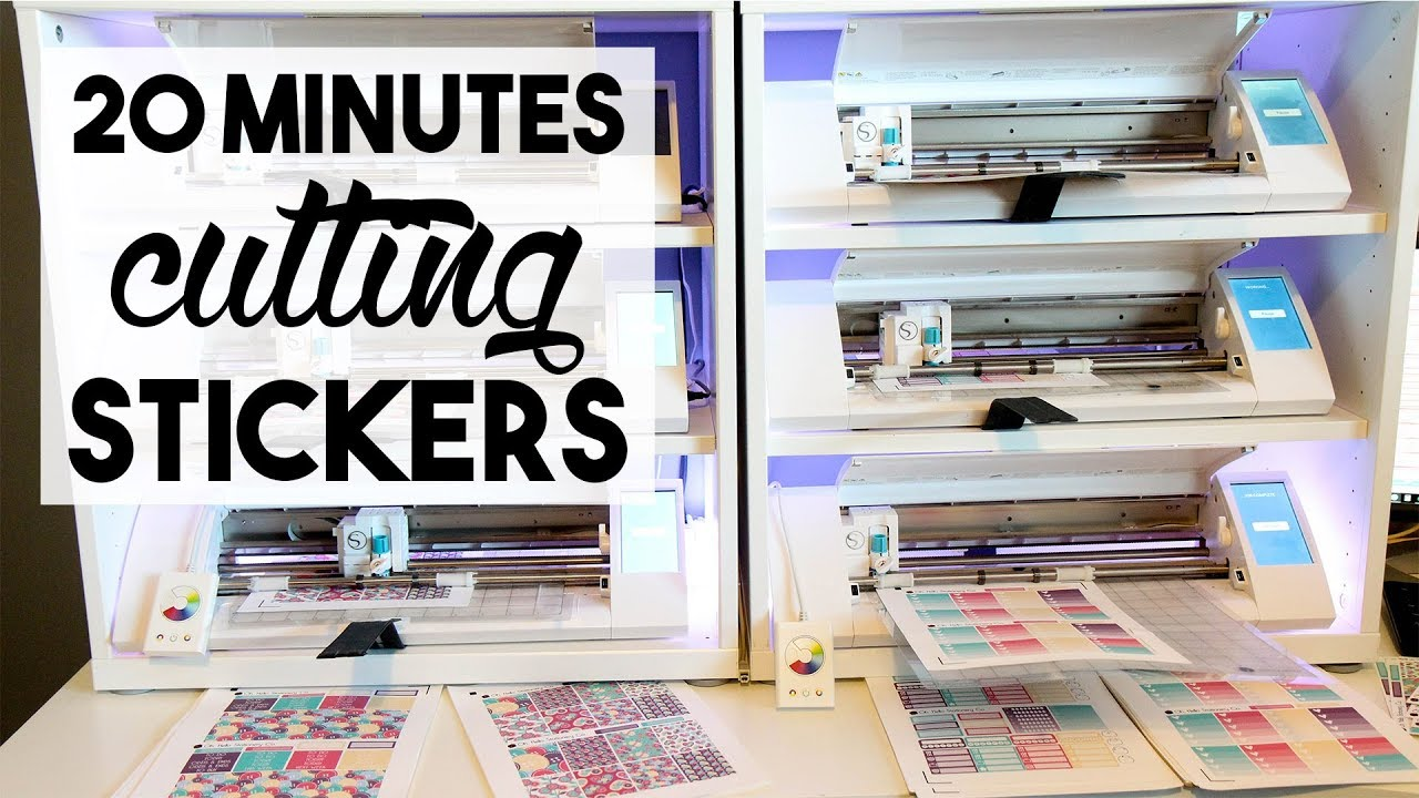 dac0849a8ccb4 Running an Etsy Sticker Shop | 20 Minutes of Cutting Stickers