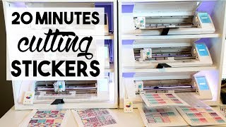 Running an Etsy Sticker Shop | 20 Minutes of Cutting Stickers