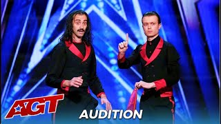 Demented Brothers: Magic Comedy Duo Get Simon Cowell All CONFUSED!