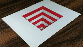 Very Easy!! How to Draw 3D Hole for Kids - 3D Trick Art on paper