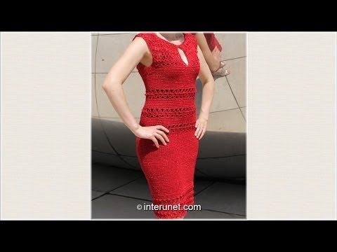 Как связать платье с рукавом крылышко Часть 1 из 4