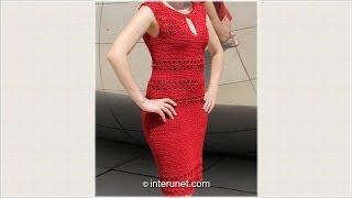 Как связать женское летнее платье крючком