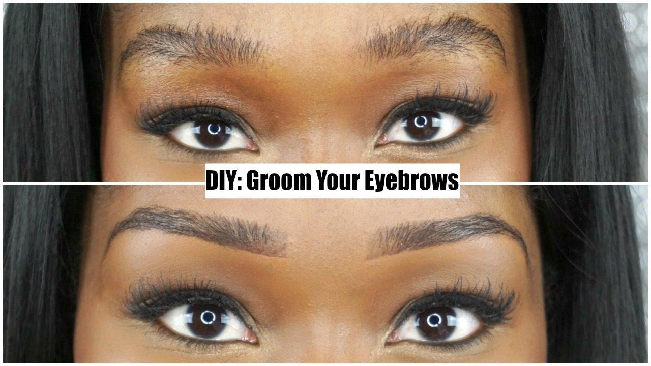 Diy Groom Shape Eyebrows With A Razor Blade Eyebrow Routine