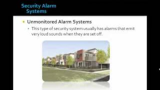 What are the Types of Security Alarm Systems