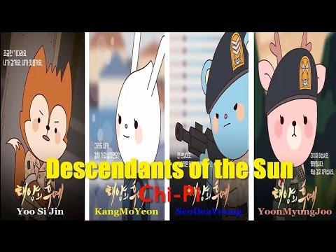 descendants-of-the-sun-chibi-|-yoo-shi-jin-ngủ-cùng-bs-kang-mo-yeon|-ep14.