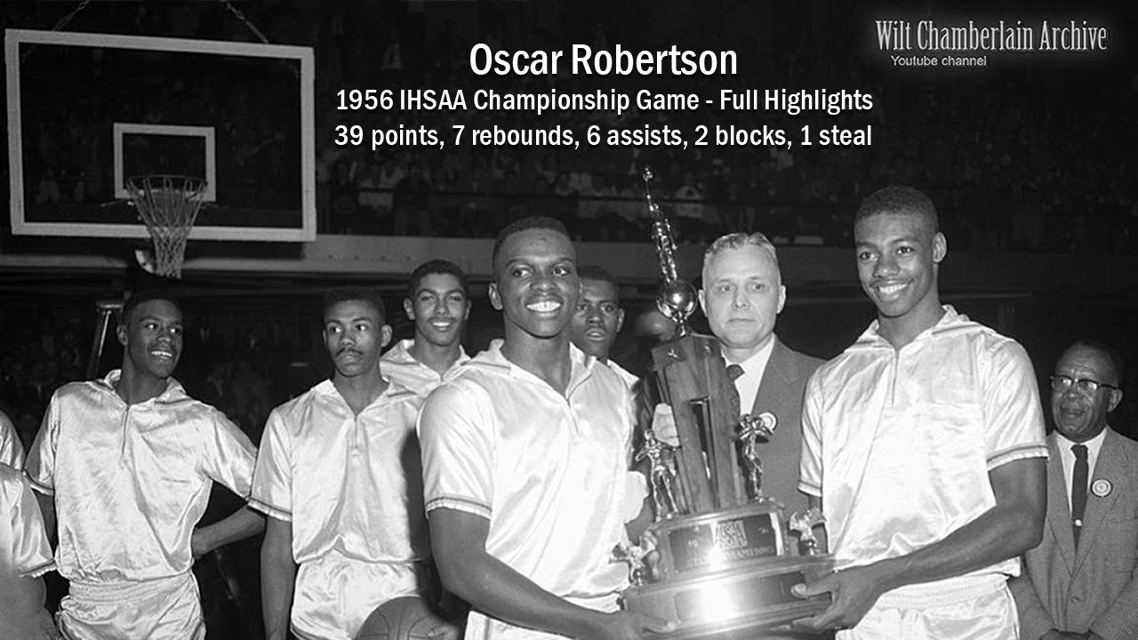 Oscar Robertson 39 points 7 reb 6a 1956 IHSAA Championship