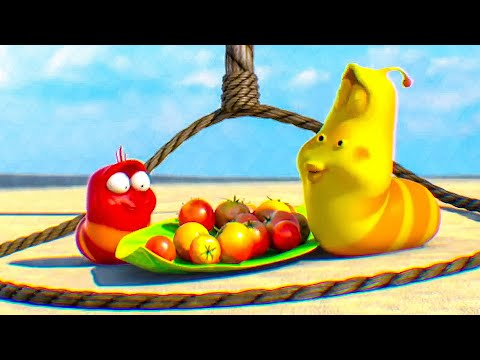 Chuck Tries To Trap Red & Yellow Scene - LARVA ISLAND (2019)