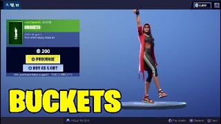 Fortnite Nouvelle emote. BUCKETS - Emote de basket-ball