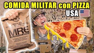 Probando COMIDA MILITAR con PIZZA PEPPERONI de ESTADOS UNIDOS   MRE Menu 23   Curiosidades con Mike