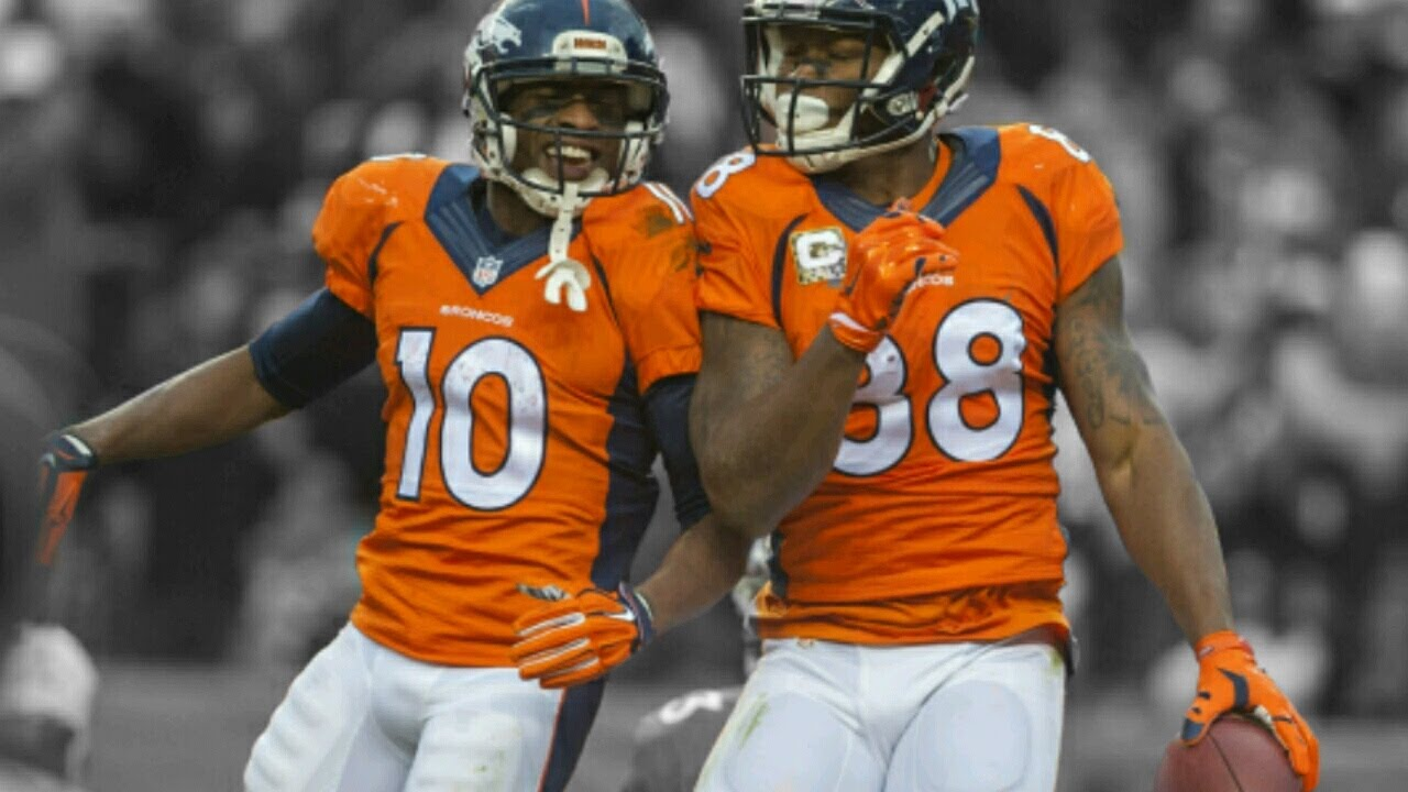 "Demaryius Thomas and Emmanuel Sanders ""Bow and Arrow"" 2015"