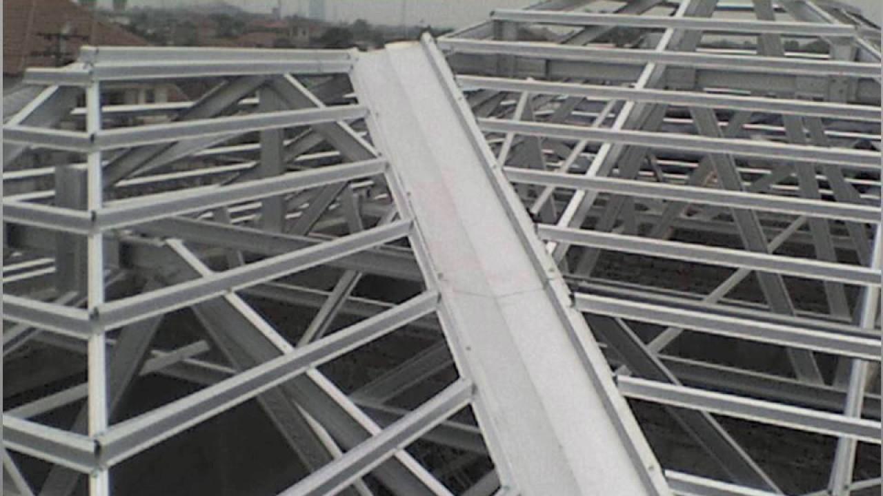gambar rangka atap baja ringan limasan 081 330 686 419 tsel pasang surabaya youtube