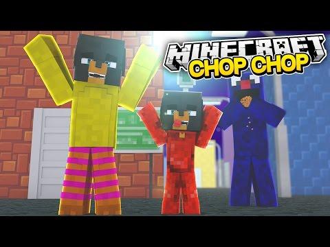 Minecraft CHOP CHOP - SESAME STREET GET CHOPPED UP BY DONUT & BABY MAX - Donut the Dog Minecraft
