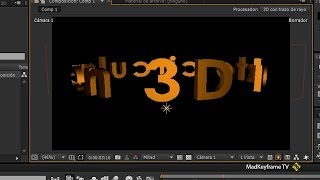 Texto 3D circular en After Effects Thumbnail
