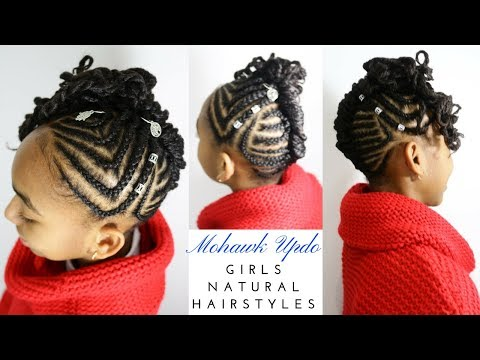 braided-cornrows-mohawk-updo- -girls-natural-hairstyles