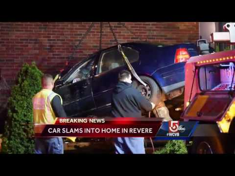 Car crashes into building, lands in child's bedroom