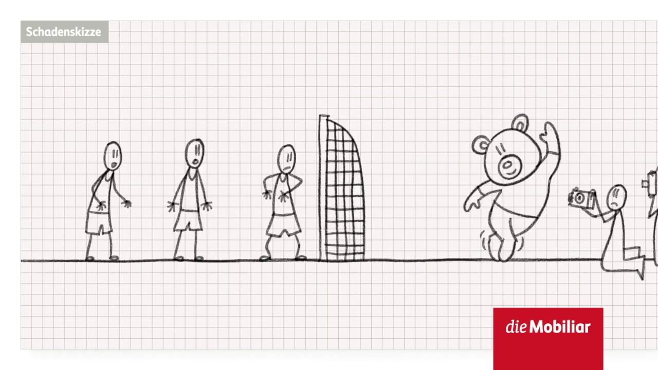 Animierte Schadenskizze Der Mobiliar Handball Youtube