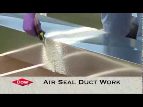Dow Froth Pak Spray Foam Application Quot Air Duct Sealing