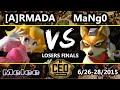 CEO 2015    A rmada  Fox  Peach  Vs  C9 MaNgo  Fox  Falco  SSBM Losers Finals   Smash Melee