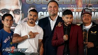 Jesus Cuellar vs. Abner Mares Full Press Conference & Face Off video- Los Angeles, CA