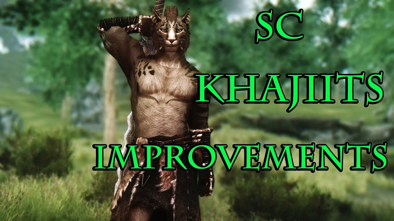 Skyrim Mods Sc Khajiits Improvement Males Only Youtube