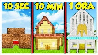 QUANTO CI METTI A COSTRUIRE UNA CASA? - Minecraft ITA