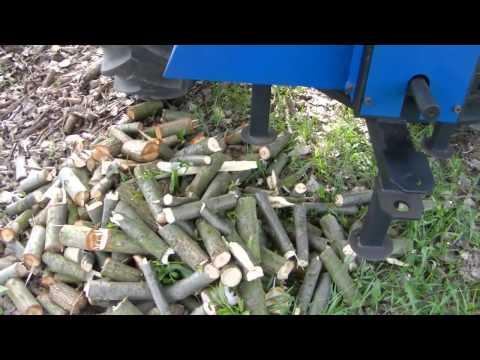 Смотреть онлайн Измельчитель веток для трактора, для производства дров, веток