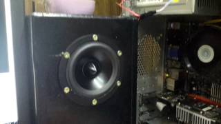 Dayton rs100-4 speakers on music.