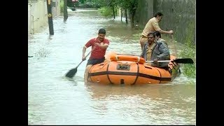 Rescue operation using boat in Palakkad