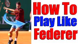 Play Tennis Like The Pros #1 - Roger Federer | Tennis Serve Lesson 🎾