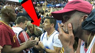I CRIED AT THE CAVS GAME! WARRIORS AND CAVS FANS GET HEATED! Cavaliers Vs Warriors Game 3