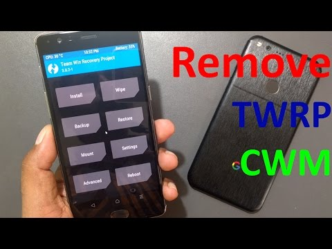 How to remove TWRP or CWM recovery & Install stock Recovery - YouTube