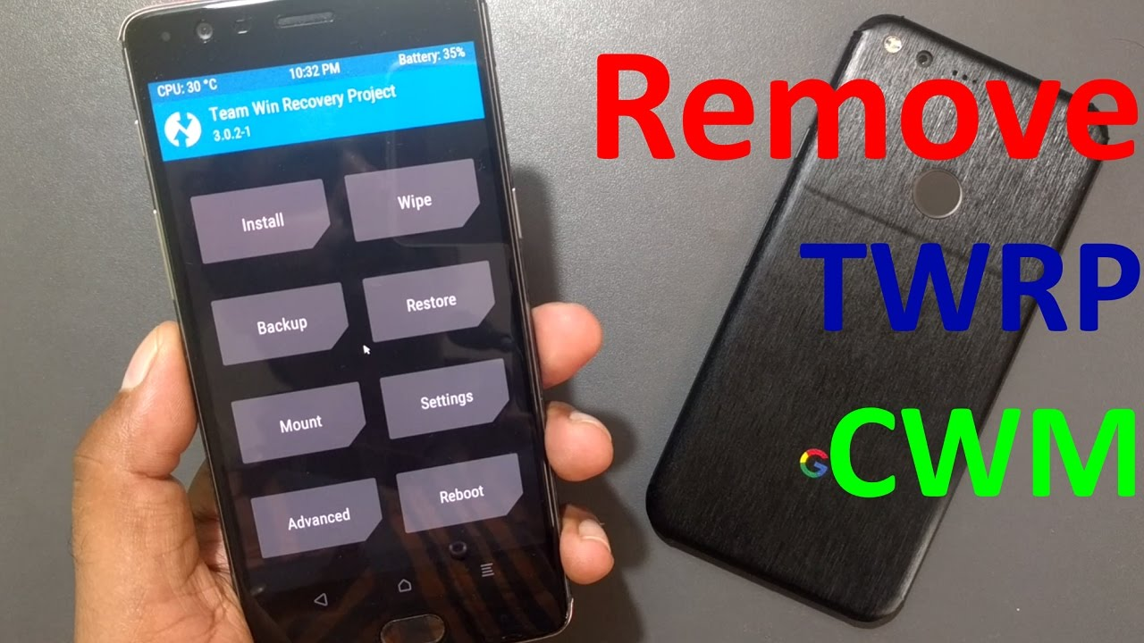 How to remove TWRP or CWM recovery & Install stock Recovery