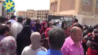 بالفيديو: طلاب الثانوية العامة بالسويس : إمتحان اللغة العربية جيد والشكوي من النحو