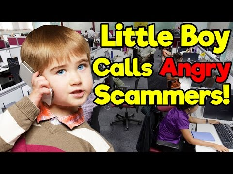 Little Boy Calls Angry Scammers! - (Microsoft Tech Support and IRS)