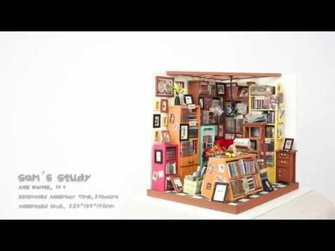 Robotime DIY Miniature Dollhouse Kit-DG102-Sam's Study with