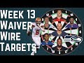 Fantasy Football - Week 13 Waiver Wire Targets
