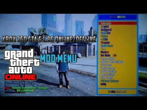 Xbox 360 GTA 5 1 26 Online/Offline Mod Menu + Download