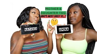 One of THIS IS AMINA's most viewed videos: MOTHER & DAUGHTER TAG: WHO'S MOST LIKELY TO...?