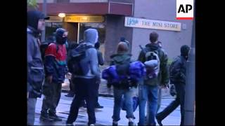 Clashes in Scotland ahead of G8 summit