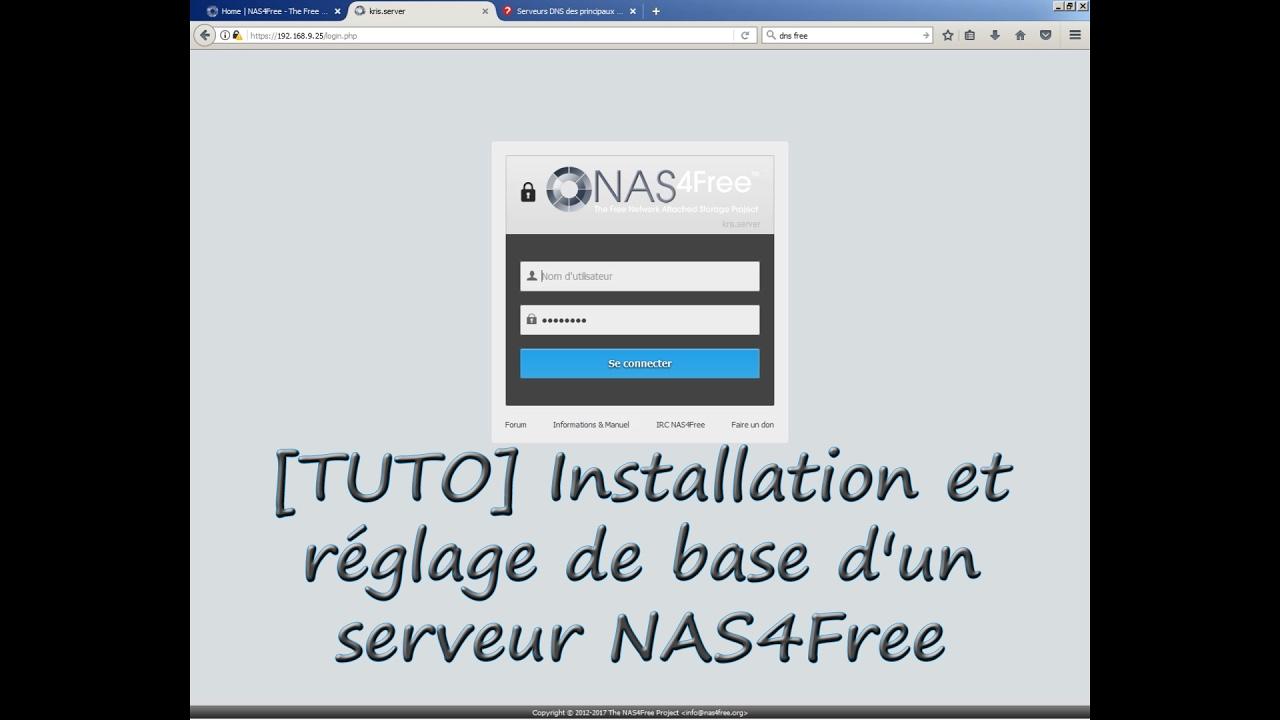 [TUTO] Installation et réglage de base d'un serveur NAS4Free