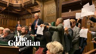 Chaos in the Commons as parliament is suspended to chants of 'shame on you'