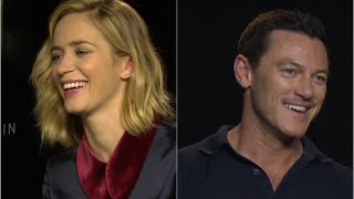 """Emily Blunt/Luke Evans: """"if you looked through my window?"""" The Girl on the Train interviews"""