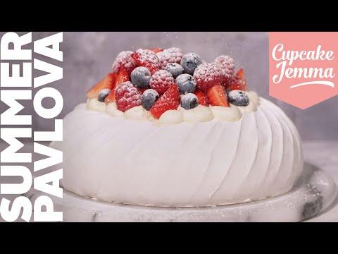 Crunchy, Mallowy Summer Fruit Pavlova - The King of Summer Desserts | Recipe | Cupcake Jemma Channel