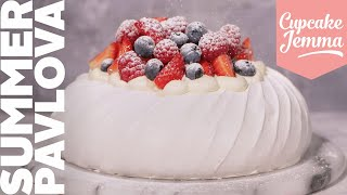 Crunchy, Mallowy Summer Fruit Pavlova - The King of Summer Desserts | Recipe | Cupcake Jemma Channel