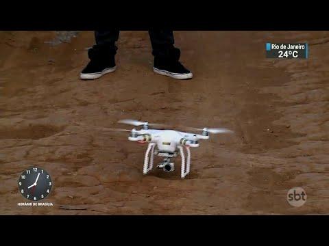 Governo pode usar drones nas ações de combate à grilagem de terras federais | SBT Brasil (02/06/18)